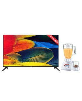 "ITEL G431 SMART 43"" ANDROID TV + National Romex Blender 2 In 1"