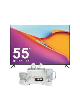 """ITEL G5514 SMART 55"""" ANDROID TV + National Juicer, Blender, Grinder & Dry Mill JPN-668 (4 in 1)"""
