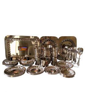 Jannat Stainless Steel Crockery Set - Silver