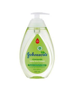 Johnson's Baby Bath 3 In 1 Green 300ml Pump