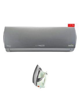 Kenwood Metallic Grey ECO Plus 1.5 Ton Inverter Ac KEE-1843s + National Deluxe Automatic Iron
