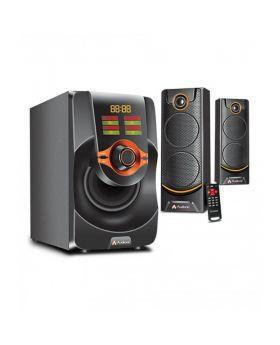 AUDIONIC MEGA M-45 2.1 SPEAKER USB,SD,AUX,REMOTE,BLUETOOTH,LED
