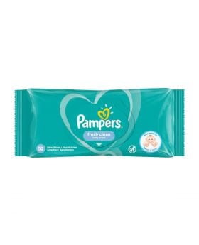 Pampers Fresh Clean Baby Wipes – 52 Pcs Per Pack