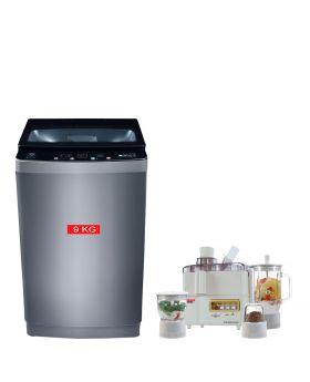 PEL Washing Machine Fully Auto PAWM-900 + National Romex 4 in 1 Juicer Blender