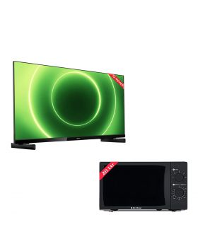 Philips 32 Inch HD LED Smart TV 32PHT6815/98 + EcoStar Microwave Oven 20 Ltrs EM 2023BSM