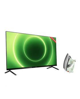 Philips 32 Inch HD Android LED Smart TV 32PHT6915/98 + National Deluxe Automatic Iron