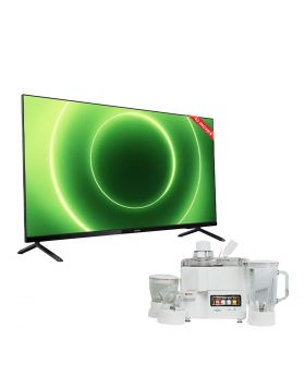 Philips 43 Inch Full HD Android Smart LED TV - 43PFT6915/98 + National Juicer, Blender, Grinder & Dry Mill JPN-668 (4 in 1)