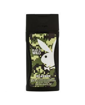 Playboy Play IT Wild 2 in 1 Shower Gel & Shampoo for Men 250ML