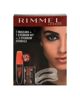 Rimmel London Mult Prm Set Eyebrow Kit + Mascara + Stencils