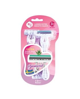 Rivaj UK Ladies Extra Smooth with 3 Blades Razors - Pack of 4