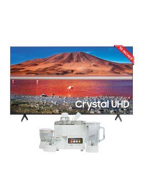 Samsung Led TV 50TU7000 - 50 Inches + National Juicer, Blender, Grinder & Dry Mill JPN-668 (4 in 1)