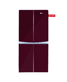 SG Four Door Refrigerator SFD-252 Maroon