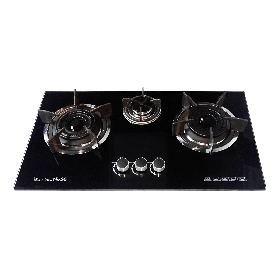 SG 3 Stove Black Glass HOB Burner SG-G5
