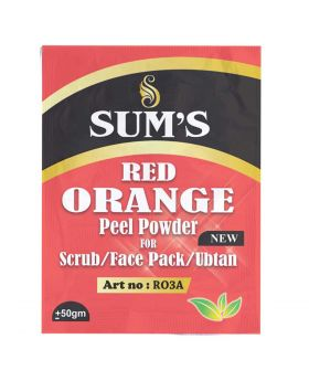 Sum's Red Orange Peel Powder Scrub