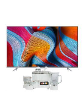 "TCL 50"" P725 UHD Android TV + National Juicer, Blender, Grinder & Dry Mill JPN-668 (4 in 1)"