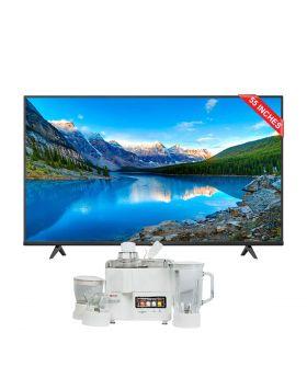 "TCL 55"" P615 UHD Android TV + National Juicer, Blender, Grinder & Dry Mill JPN-668 (4 in 1)"