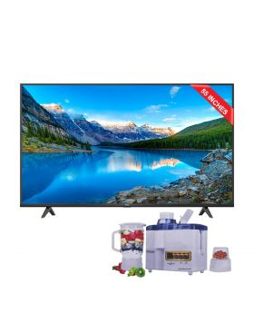 """TCL 55"""" P615 UHD Android TV + National Juicer 3 in 1 N-149"""