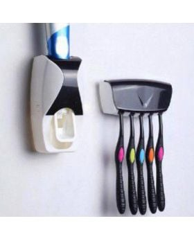 Toothpaste Dispenser Automatic Toothpaste Squeezer and Holder Set