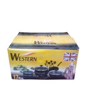 Western Non-Stick Cookware - 17 PCS