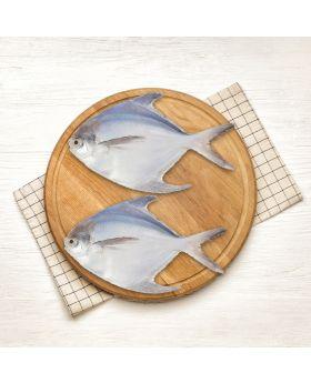 Pomfret White Fish 2 KG  سفید پاپلیٹ