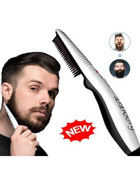 XENOTY Beard Brush,Electric Straightener Comb for Men Beard and Hair Style