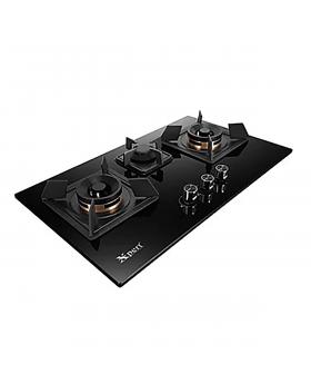 Xpert Appliances Glass Hob XGT-3(617)-Full-Brass