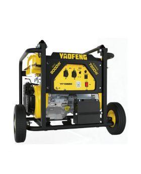 Yaofeng 8 KW Heavy Duty Petrol & Gas Generator YF10880 Yellow & Black