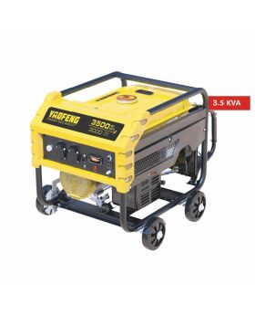 Yaofeng 3.5 KW Heavy Duty Petrol & Gas Generator YP3500E Yellow & Black